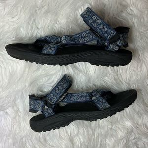 Teva Hurricane  XLT blue black sandals 6